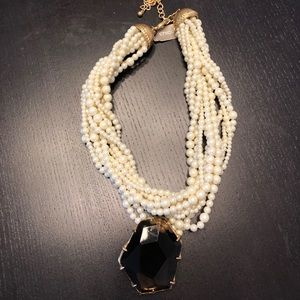 Vintage Chicos Faux Pearl Necklace